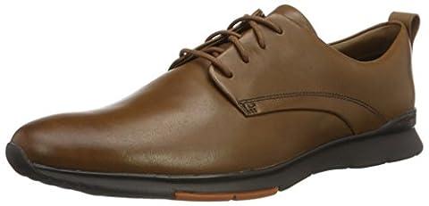 Clarks Men's Tynamo Walk Low-Top Sneakers, Brown (Tan Leather), 9 UK