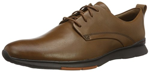 ClarksTynamo Walk - Scarpe da Ginnastica Basse Uomo Marrone (Tan Leather)