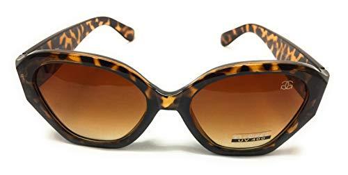 GG Eyewear Women es Designer Sonnenbrillen-Full UV400 Schutz-Women Fashion Sonnenbrillen-Modell: GGucineri Space With FREE Pouch and Case GT018-Leopard