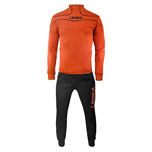 LEGEA Nigeria Tuono Trainingsanzug Training Langarm T-Shirt M Orange - Arancio Fluo Nero