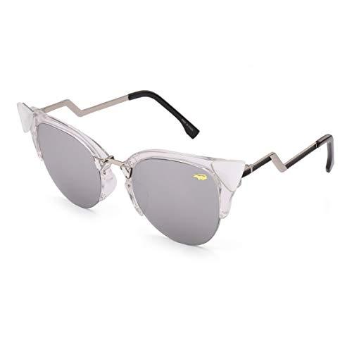 Sonnenbrillen New Fashion Cat Eye Sunglasses Women White Frame Gradient Sun Glasses Driving UV400 Fashion Eyewear Box 97006 Silver