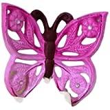 Farfalla in Ceramica Da Appendere - Ceramica Decorativa - Bomboniera - Farfalla 3d - Da Parete Fuxia - Le ceramiche del re