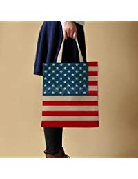 Alcoa Prime USA GRUNGE FLAG DESIGN TOTE BAG SHOPPING BEACH SCHOOL ACCESSORY