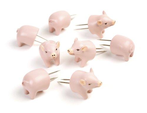 Charcoal Companion CC5008 Schweinchen Mais-Halter, 3,1 x 9,8 x 19,1 cm, rosa Corn-cob-form
