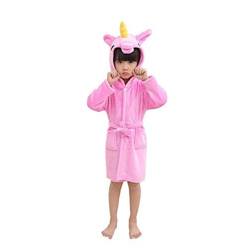 Live It Style It Einhorn Bademantel Kinder Pjs Mädchen Morgenmantel Jungen Nachtwäsche Pyjamas (2-3 Jahre, Dunkelpink) -