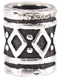 Battle-Merchant Wikinger Bartperle, Dreadlockperle, Haarperle klein - Haarschmuck Silber 3mm - Schmuckperle