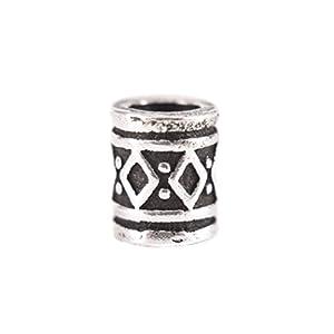 Battle-Merchant Wikinger Bartperle, Dreadlockperle, Haarperle klein – Haarschmuck Silber Innendurchmesser 3mm – Schmuckperle
