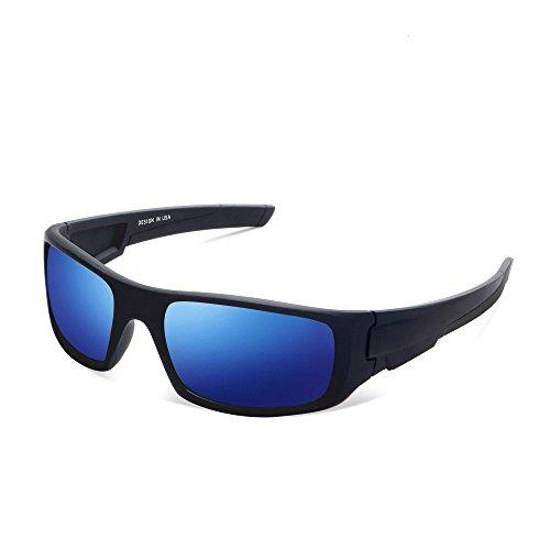 Herren und Damen Sonnenbrillen Polarisiert Unisex Brille Überbrille für Brillenträger Fit-over (B)