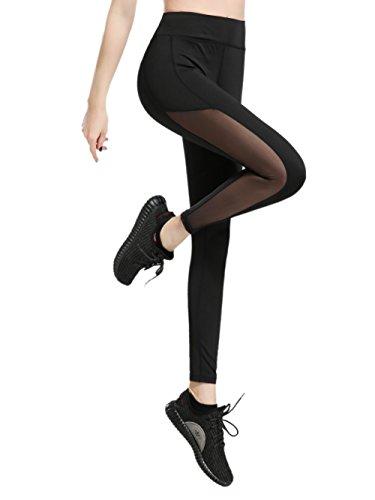 dh Garment Sport leggings Damen hohe Taille Yoga Hose mit Bundtasche (Größe M)