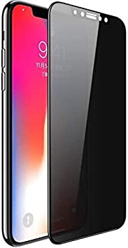 Al-HuTrusHi Privacy Screen Protector for iPhone X iPhone Xs, Anti Spy 5D Tempered Glass,Anti Scratch,Full Cove