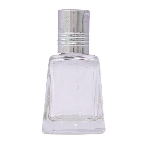 50 pcs x 10 ml gros vide verre transparent rechargeable bouteilles d'huile essentielle aromathérapie bouteille de roll-on