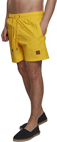 Urban Classics Herren Shorts Block Swim TB1026, Gr. XX-Large (Herstellergröße: XXL), Gelb (Chrome Yellow 01148)