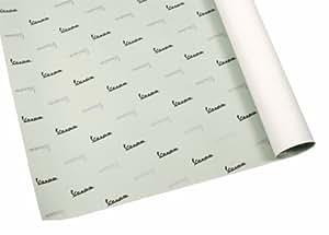 """Papier cadeau vert fORME """"vespa 1000 mm, 700 mm, logo (noir/argent)"""