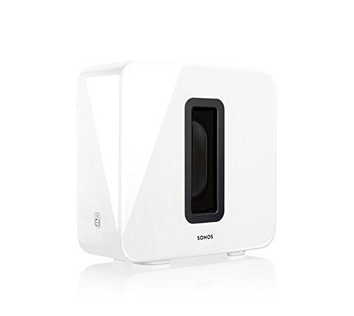 Sonos Sub, weiß – Leistungsstarker WLAN Subwoofer für dynamische & tiefe Bässe für alle Sonos Speaker – Eleganter Multiroom Subwoofer für erstklassigen Sound