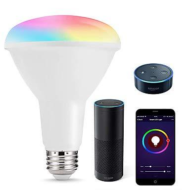 Intelligente led-lampen mehrfarbige WiFi led-leuchten br30 dimmable vertiefte glühlampen 75 watt-80 watt gleichwertiges flutlicht kompatibel mit Amazon Alexa und Google assistent -