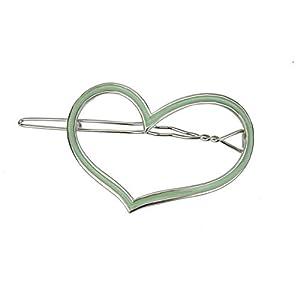 Ella Jonte kleine Haarspange Herz Silber grün Metall Herzhaarspange