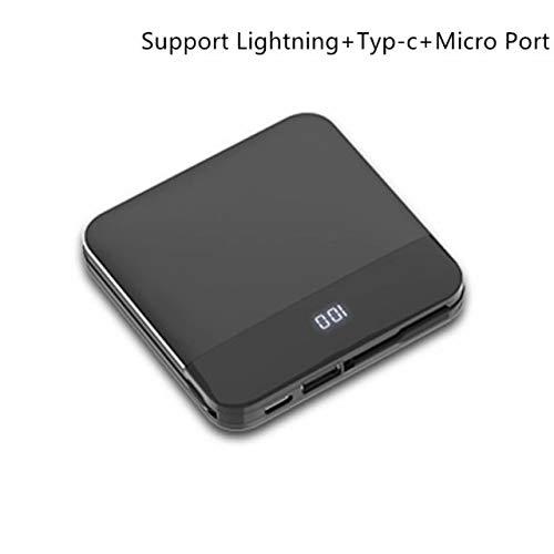Portable Power Bank, externes Batterie-Netzteil 8000mAh Beleuchtung USB-Typ-C-Mikroanschlüsse Externe Batterie-Power Bank mit LED-Statusanzeige Kompatibel mit iPhone X8 8 Plus7 6s 6Plus (Iphone 6 Portable Back-up-ladegerät)