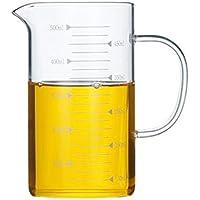 WEIZI Estándar Estándar hogar Hornear 500 Ml de Vidrio con Tapa y la medición de la Milk Cup 1000 ml Larga Vida práctica, aparatos prácticos. (Color : A)