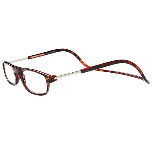 Retro Lesebrille Herren Damen Brille Magnet Reading Glasses OL02(Leopard,+1.50) (Leoparden-brille)