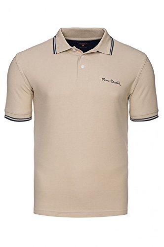 polo-pierre-cardin-con-punta-di-polo-degli-uomini-in-diversi-colori-sizexlsizepc-tipped-beige