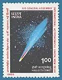 Sams Shopping XIX General Assembly International Astronomical Union New Delhi Astronomy Halley's Comet Solar System Celestial Bodies Organisation Conference RS 1 Stamp...