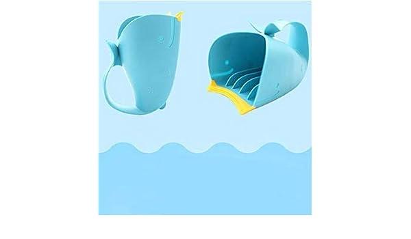 Iyhouse Enfants Cuill/ère de Douche Bain Dessin anim/é Baleine Shampooing avec Chasse deau de Coupe Cheveux rincer leau Scoop