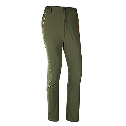 walk-leader pour homme coupe décontractée extérieur coupe-vent Camping Fast Dry Pantalon pour femme - vert - XX-Large