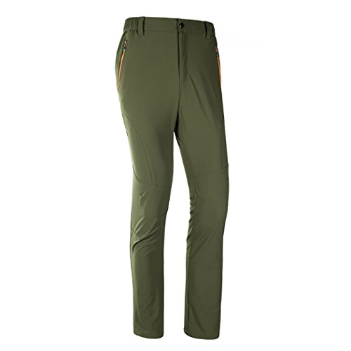 Flat Front Stretch-leggings (walk-leader Herren Outdoor Relaxed Fit leicht Fast Dry Pants Camping Hose Gr. XX-Large, armee-grün)