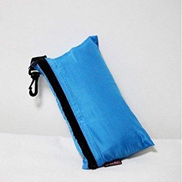 Ourbest seta singolo Liner sacco a pelo di campeggio di viaggio mini sacco a pelo (cielo blu)