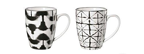 ASA 90903071 Maori - Henkelbecher/Kaffeebecher - Porzellan - 2 er Set - Ø 8 cm - Höhe 10,5 cm -...