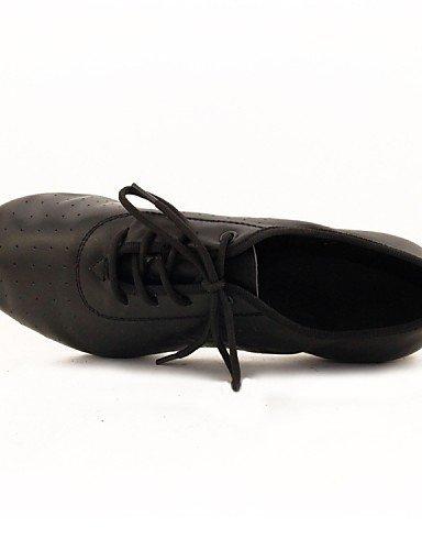 ShangYi Chaussures de danse (Noir) - Non personnalisable - Talon bas - Similicuir - Moderne Black