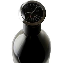 L'ATELIER DU VIN - Thermomètre à Vin - Acier Inoxydable - Savourez Votre Vin à la Bonne Température