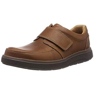 Clarks Men's Un Abode Strap Loafers, Brown (Dark Tan Leather 11 UK