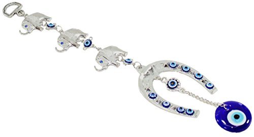 3Lucky Elefanten Pferd Schuh Türkisch blau Evil Eye (Nazar) Amulett Wand aufhängen Schutz Home Decor Segen Geschenk uns Verkäufer (gp5553)