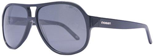 Ocean Sunglasses - Donostia - lunettes de soleil polarisées - Monture : Noir Laqué - Verres : Fumée (19800.1)
