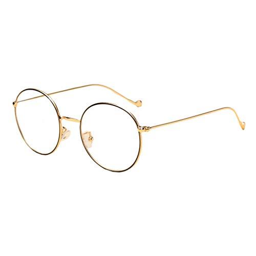 Hibote Männer Frauen Rund Brille - Klare Linse Brillengestell - Mode Brillen Eyewear - 18082303