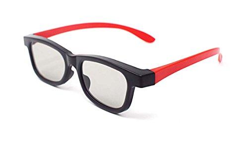 Ultra 4 Paare Rot und Schwarz Erwachsene Passive 3D-Brillen für Männer Frauen Polorized Eyewear Style für Alle Passivfernseher Kino und Projektoren wie RealdD Toshiba LG Sony Panasonic und Mehr