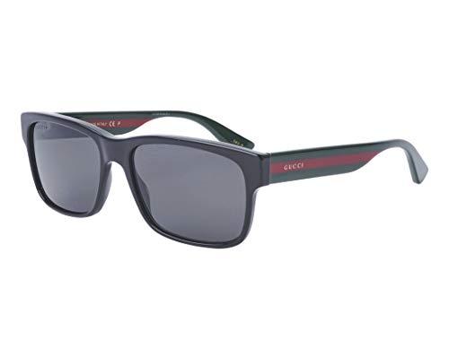 Gucci Sonnenbrillen (GG-0340-S 007) glänzend schwarz - dunkel grün - grau polarisierte