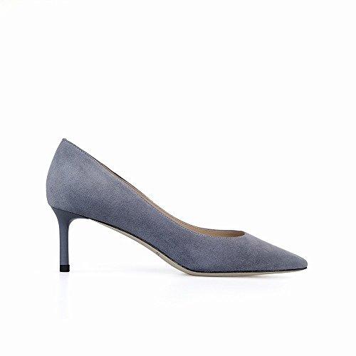 CWJ Zapatos de tacón Alto de Primavera y Verano en la Boca Baja con Zapatos de Novia de Lentejuelas Finas, Zapatos de Mujer