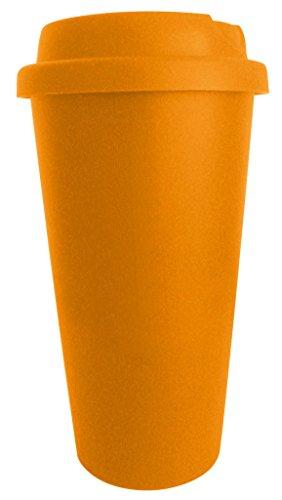 Funny Guy Tassen, Uni Travel, 16-ounces, plastik, Orange, 16 Ounce -