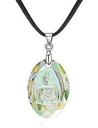 Blisfille Collar Estrella de Mar Colgante Mujer Buda Gargantillas Bisuteria Aleación Joyas de Colgante &Blanco