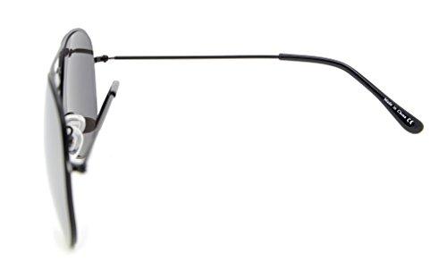 Eyekepper Lunettes de soleil enfant de type aviateur à monture en acier inoxydable Black Frame-Silver Mirror