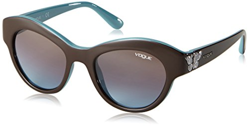 Vogue 0vo2872s 218548 50, occhiali da sole donna, marrone (brown/azure gradient)