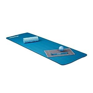 Relaxdays Yogamatte gepolstert, 1 cm dicke Übungsmatte, Für Pilates, Aerobic,...
