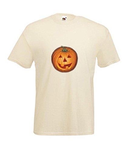 Tees HALLOWEEN KÜRBIS Jack O Laterne Kinder T-Shirt, Elfenbein, 1896CTC17 (Scary Halloween-jack O Laternen)