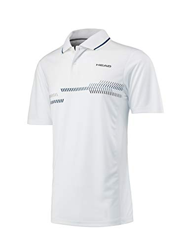 HEAD Herren Club Technical Polo Men Poloshirts, weiß, - Herren Tennis Head
