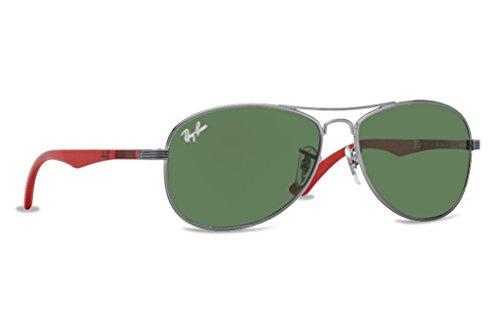 Ray Ban Boy RJ 9529 grau - Green Polycarbonatglas Sonnenbrille lenses 53 mm