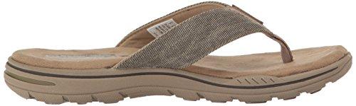 Sandales-Tongs, couleur Blue , marque SKECHERS, modèle Sandales-Tongs SKECHERS EVENTED ROSEN Blue Kaki