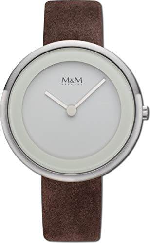M&M Damen-Armbanduhr Big Circle Analog Quarz M11946-527