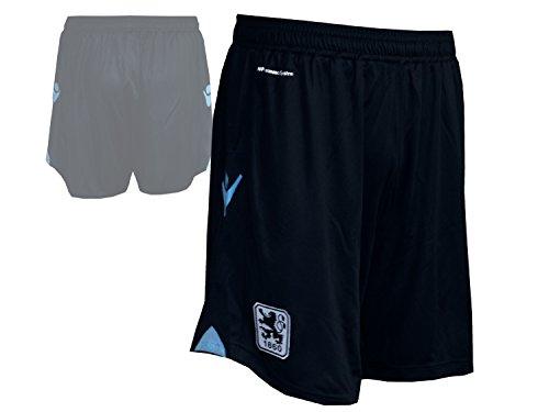 Macron TSV 1860 München Authentic Away Short Spielerhose Löwen Turnhose Fußball-Hose Schwarz, Größe:XL (Away Fußball Shorts)